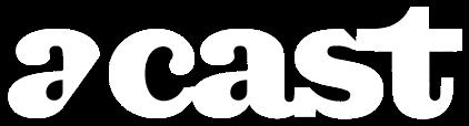 a-cast logotyp i vitt